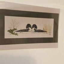Loons Courting Ballet Birds Cross Stitch Leaflet BJ Designs 8034 Pond Pl... - $14.99