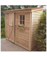 Space Saver Storage Shed - 8' x 4',Outdoor Storage Shed,Wood Shed.Tool S... - $2,100.00