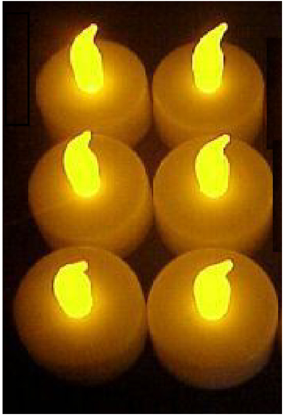 Tea Lights LED Flickering 100 hour Set of 12