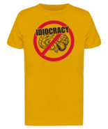 Idiocracy No Brain Men's Gold T-shirt - ₹1,423.46 INR+
