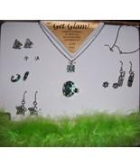 Get Glam Girls Green Jewelry Set Lead Free Necklace Earrings Ring Bracel... - $10.00