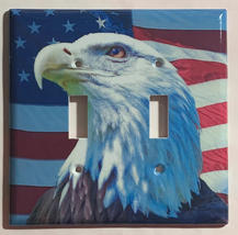 Patriot Bald Eagle US Flag Light Switch Power Outlet Wall Cover Plate Home Decor image 3