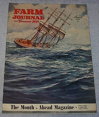 Farm Journal Farmers Wife Magazine August 1940