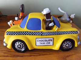 Hershey's Advertising Vinyl Chocolate Taxi Co. Bank Hershey Kisses Ad Figure - $15.99