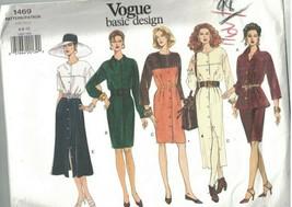 1469 sin Cortar Vogue Costura Patrón Misses Vestido Top Túnica Falda Bás... - $9.99