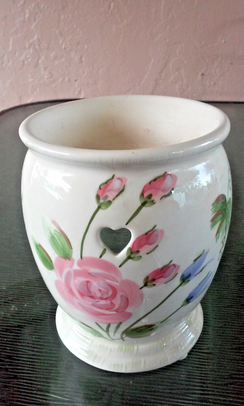 Yankee Candle Wax Melt Ceramic Floral Warmer FREE FAST DELIVERY