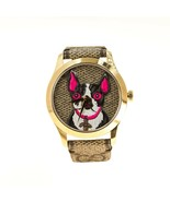 Gucci G Timeless Watch Bosco & Orso Watch Brand NEW UK Gold Plated leather - $890.36