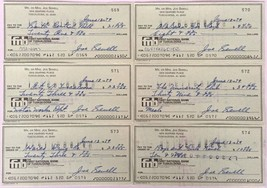 Joe Sewell Cleveland Indians Signed Personal Checks 569-574 - $97.02