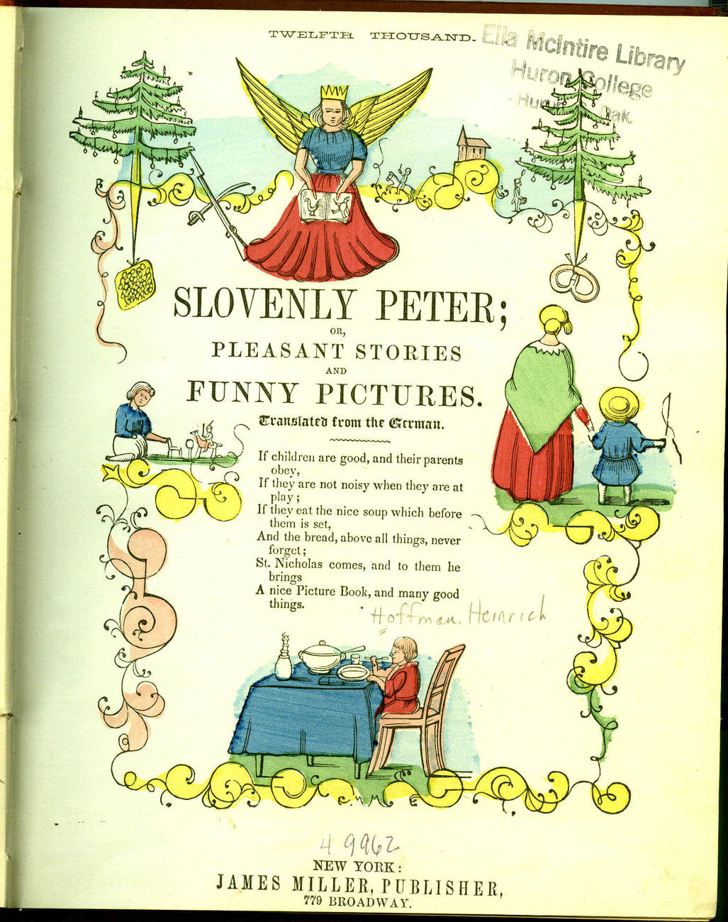 Laughter Book Slovenly Peter Heinrich Hoffman 1881? illustrated color