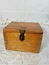 VINTAGE CLARITE HIGH SPEED COLUMBIA TOOL STEEL CO. WOODEN BOX