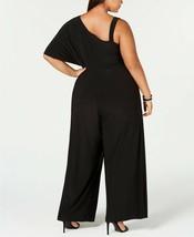R & M Richards One-Shoulder Jumpsuit Navy Plus Size 14W $99 image 2