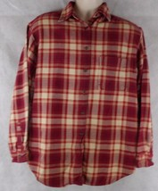 Abercrombie & Fitch Size M  Long Sleeve Red/White Plaid Durable Button S... - $19.75