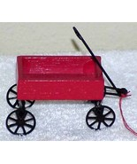 Vintage 1980's Red Wood & Metal Wagon Ornament, Doll House, etc - €8,81 EUR