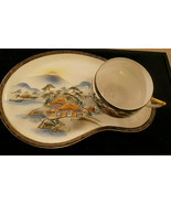 SOKO China Tea Set of 6 Cups, 6 Oval Luncheon Plates Handpainted Made in... - $255.00