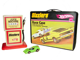 2006 Mattel Hot Wheels SIZZLERS Juice Machine CHARGER, CASE, CAR Lime Li... - $42.99