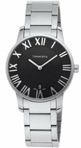 Tiffany & Co. Atlas Dome Quartz Black Dial Men's Watch Z1800.11.10A10A00A - $1,436.90