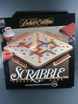 Vintage Scrabble 1989 Crossword Game Deluxe Edition Milton Bradley - $35.63