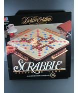 Vintage Scrabble 1989 Crossword Game Deluxe Edition Milton Bradley - $35.63