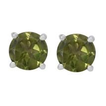 Tiny Stud Peridot Gemstone 925 Sterling Silver Women/Girls Earring SHER0332 - $17.18