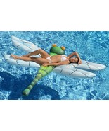 Pool Float For Kids Adult Raft Inflatable Lounge Light-Up LED Eyes Swimm... - $45.76