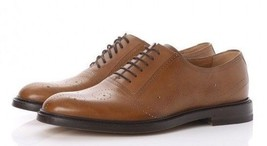 GUCCI Mens Calfskin Bee Brogue Lace-Up Oxfords   Reg - Price $890 - $599.99