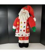 "Chenille Santa Claus Advent Calendar Christmas Count Down Figure 26"" Tall - $21.99"