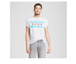 Chicago The Flag Mens T-Shirt Size S White  NWT - $10.39
