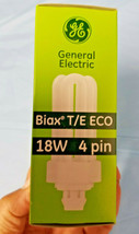 2 GE Biax T/E ECO 18W GX24q-2 4 Pin CFL Fluorescent Lamps Light Bulbs - $14.95
