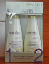 Decleor Anti-Aging Cleansing Duo Youth Cleansing Milk & Lotion 400 ml Total Size - $51.38