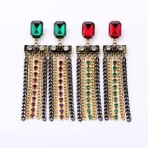 Women Qingdao Factory Hot Sale Urban Tassel Chain Earrings - $6.65