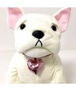 "Martha Stewart Plush Macy's Dog Bulldog Stuffed Animals 14"" Valentine's - $22.28"