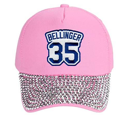Cody Bellinger Hat - Los Angeles Baseball #35 Adjustable Womens Cap (Pink Studde