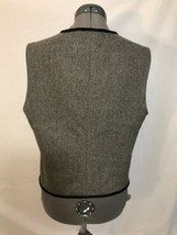 Talbots Grey/Black Snowflake Lined Holiday Vest Sz S Gently Used - $5.00