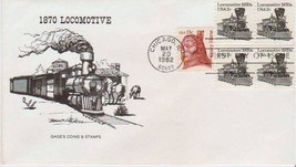 1870s LOCOMOTIVE Transportation and Crazy Horse  1982 FDC -FREE SHIPPING - $1.93