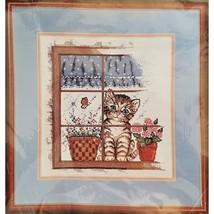 Kitten in Window Counted Cross Stitch Kit 9 x 10 Bucilla 40462 c2735 - $11.99