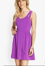 NWT Forever 21 Purple Cutout Dress Sz M - $19.99