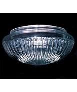Clear Glass Ceiling Fan Light Shade 7 5/8 X 4 3/4 X 9 1/4 Pan Ribbed Flu... - $16.95