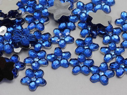 Primary image for 6mm Flat Back Flower Acrylic Jewels Pro Grade - 125 Pieces (Assorted Colors)