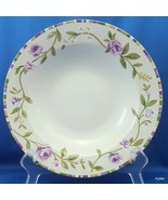"Laura Ashley Grapefields Rimmed Soup Pasta Bowl  9"" Purple Floral Band - $9.50"