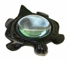 Collectible Figurine Statue Sculpture Handmade Turtle Charm - $46.28 CAD