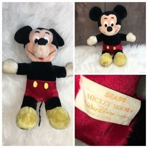 "Sears Walt Disney Mickey Mouse 12"" Plush Stuffed Doll Toy Animal Vintage - $28.94"