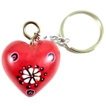 Tabaka Chigware Hand Carved Kisii Soapstone Red Heart Stone Keychain image 2