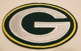 "Green Bay Packers Embroidered Applique Helmet PATCH~3 5/8"" x 2 1/2""~Iron... - $4.45"