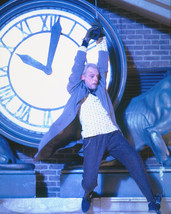 Back To The Future 16x20 Canvas Giclee Christopher Lloyds swings from clock - $69.99
