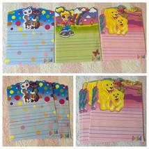 Vintage Lisa Frank Roxi & Rollie Rainbow Girl Dog Stationery Paper Set Of 6 - $39.99