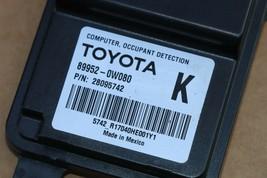 Lexus Toyota Occupant Detection Sensor Module Computer 89952-0W080 (K) image 2