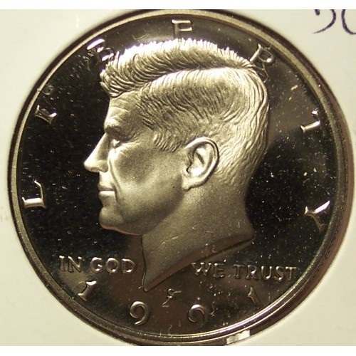 Primary image for 1991-S Deep Cameo Clad Proof Kennedy Half Dollar #0888