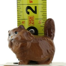 Hagen Renaker Miniature Cat Fat Brown Ceramic Figurine image 2