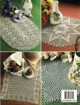 Knit Heirloom Oval Diamond Round Doilies Rectangular Table Runner Patterns - $13.99