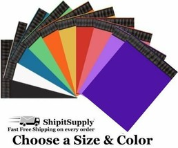 Choose Black Blue Green Orange Pink Purple Red White Yellow Colored Poly... - $0.99+
